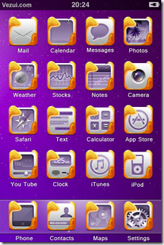 Purple-iphone-Theme